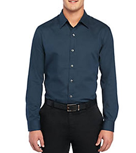 Van Heusen Men's Regular-Fit Dobby Dot Easy-Care Button-Down Shirt (Turquoise Seabed, XX-Large 18-18.5)
