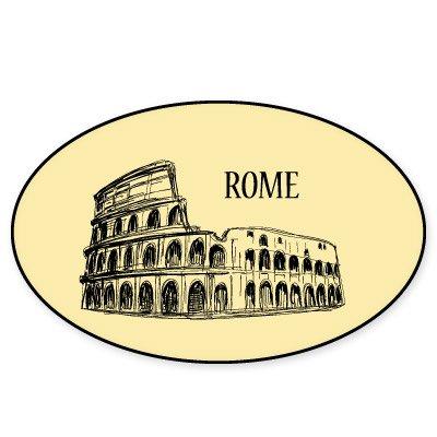 Rome Colloseum Vinyl Sticker - Car Phone Helmet - SELECT SIZE Rome Travel Bicycle