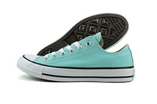 (Converse Chuck Taylor All Star Seasonal OX Light Aqua Athletic Shoes)