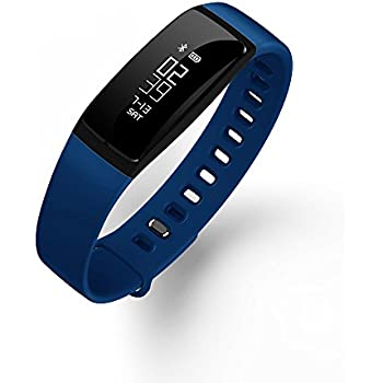 V07 Smart Watch Sports Healthy Blood Pressure Monitor Bluetooth Smart Bracelet Watch Blue Band