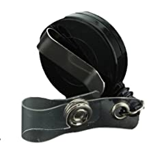 Black Retractable Badge Clip ID Card Holder Reels Plastic With Silver Metal Belt by Meco