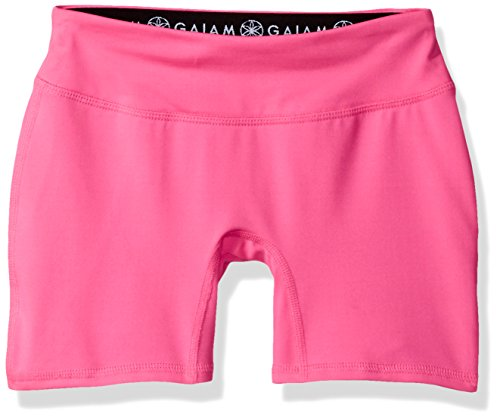 Yoga Boy Short (Gaiam Big Girls' Yoga Boy Short, Hot Pink, 10/12)