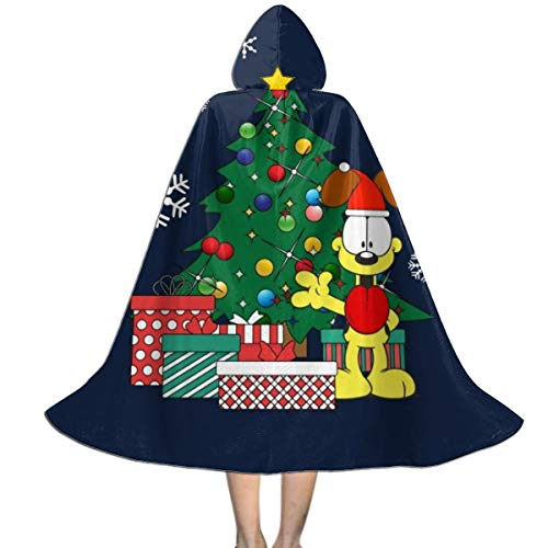 Garfield And Odie Halloween Costumes (Garfield Odie Around The Christmas Tree Unisex Hooded Cloak Cape Halloween Party Decoration Role Cosplay Costumes)