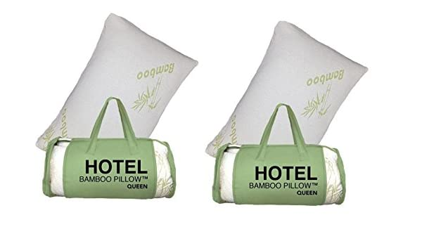 amazoncom 2 pack queen hotel bamboo pillow memory foam cool comfort new home u0026 kitchen