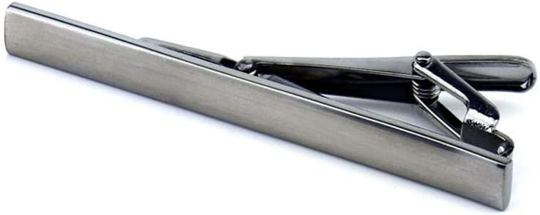 SKYyao Tie Clips Tie Bar Clip Mens Simple Silver Metal Collar Clip tie pin tie Clip Copper 606mm