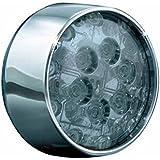 Kuryakyn(クリアキン) LEDフロントウィンカーインサート ビレットタイプ スモークレンズ/アンバーイルミネーション クローム 2個セット FLHTCU [ウルトラクラシック・エレクトラグライド](14) FLTR[ロードグライド](04-09) KUR-5443