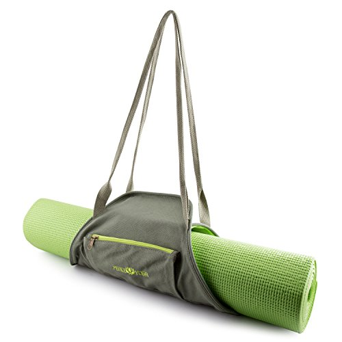 Peace Yoga® Green Yoga Mat Wrap Bag Carrier