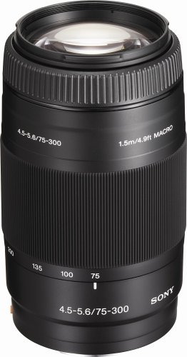 Sony 75-300mm f/4.5-5.6 Compact Super Telephoto Zoom Lens for Sony Alpha Digital SLR Camera