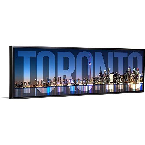 Toronto, Transparent Overlay Black Floating Frame Canvas Art, 38