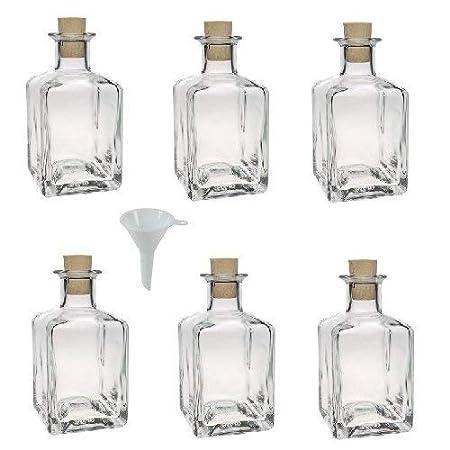 Viva Haushaltswaren - Juego de Botellas de Cristal pequeñas (con ...