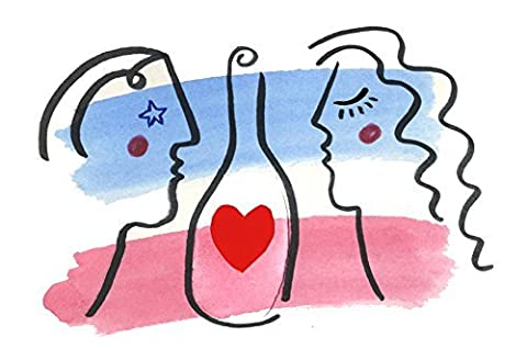 Bottled Love (Art Deco Illustration Couples)