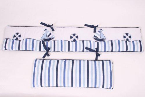 Little Sailor Bumper Pad (Crib Bumper Striped)