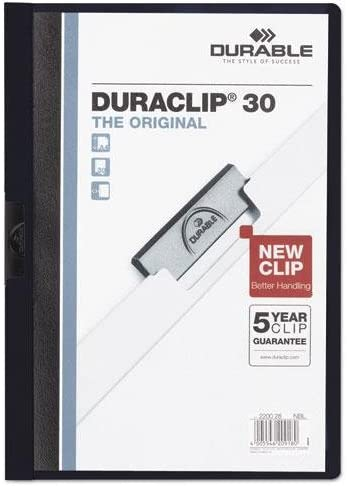 """8 1//2/"""" x 11/"""" Sheet Size Letter DURABLE Duraclip Report Covers 30 Sheet"""