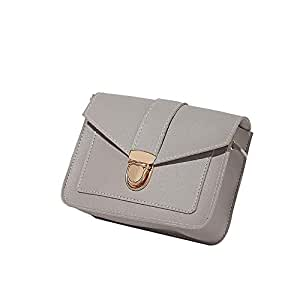 Wultia - Vintage Leather Hotsale Women Wedding Clutches Ladies Party Purse Famous Designer Crossbody Shoulder Messenger Bags #T09 Gray