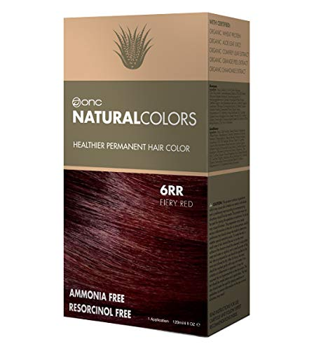 Buy Hair Dye - ONC NATURALCOLORS 6RR Fiery Red Healthier Permanent Hair Color Dye 4 fl. oz. (120 mL) with Certified Organic Ingredients, Ammonia-free, Resorcinol-free, Paraben-free, Low pH, Salon Quality, Easy to Us