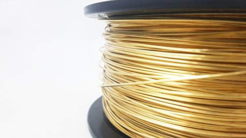 24 Gauge, Red Brass Wire, Square, Dead Soft - 5FT from Craft Wire