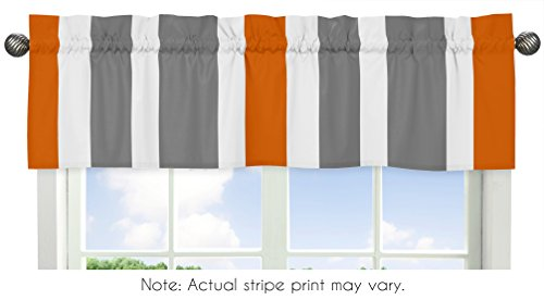 Sweet Jojo Designs Gray, Orange and White Window Treatment V