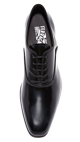 Salvatore Ferragamo Mens Dunn Plain Toe Lace Up Derbys Black lKfiAg5sru