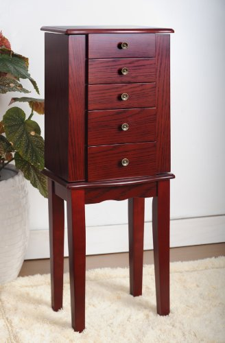 Cherry Jewelry Armoire Chest by eHomeProducts (Image #1)