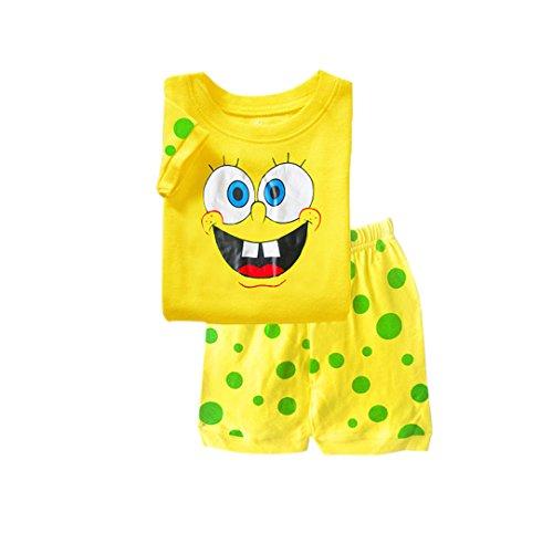 Boys Spring/Summer Spongebob Squarepants Nightgown Sleep Pants Pajama Sets (4T)