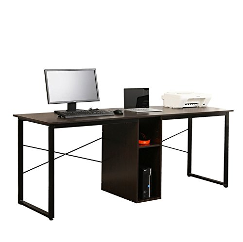 Mixcept 2-Person Computer Desk with Storage, 78