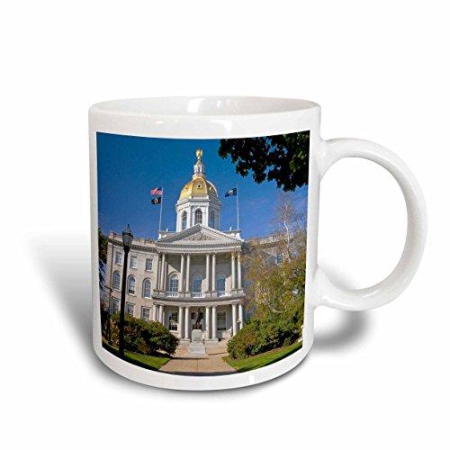3dRose mug_92338_1 Capitol Building, Concord, New Hampshire US30 DFR0051 David R Frazier Ceramic Mug, 11 oz, - Hampshire Outlets Concord New