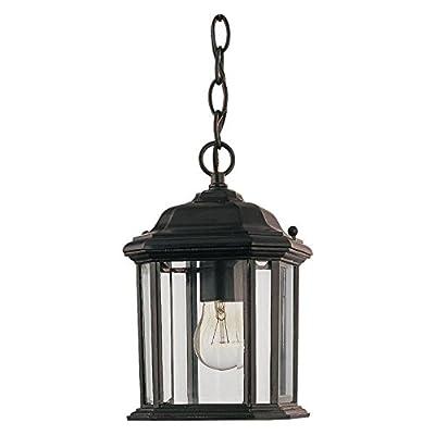 Sea Gull Kent Outdoor Hanging Light - 10H in. Black