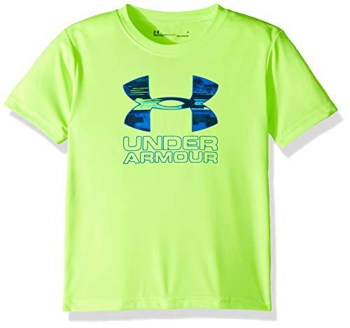 Under Armour Boys' Little Big Logo Short Sleeve Tee Shirt, Limelight-S19, ()