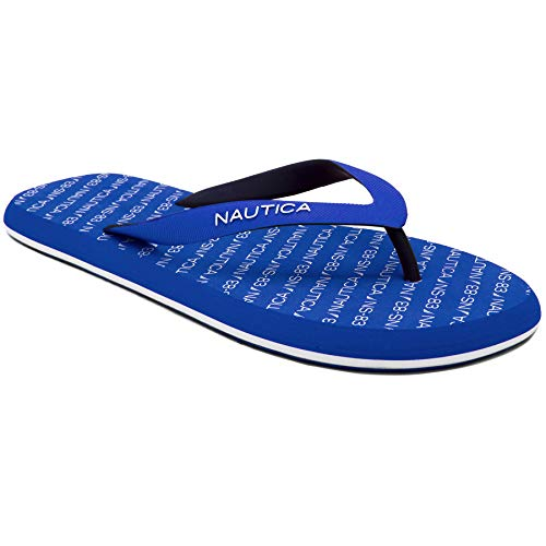 - Nautica Men's Del-Ray 2 Flip Flop, Rubber Thong, Beach Sandal-Royal Logo-13