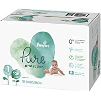 108 Count Pampers Pure Disposable New Born Baby Diapers (Size 1)
