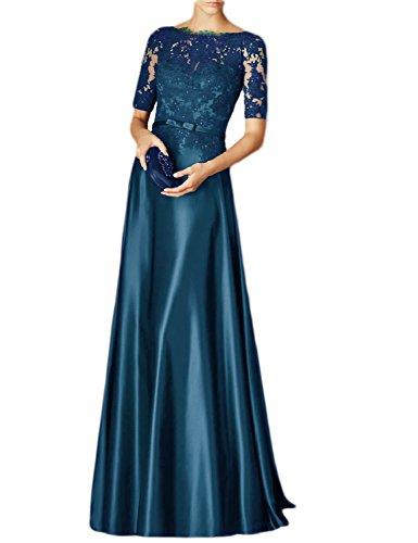OYISHA Womens Scoop Neck Formal Gown 1/2 Sleeve Lace Maxi Evening Dress EV121 Jade 8