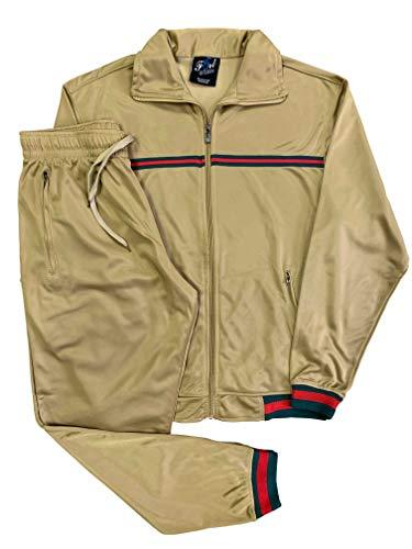 Fort Men's Fashion Wear/Gym/Sportswear/Active Track Suit (Beige, S)