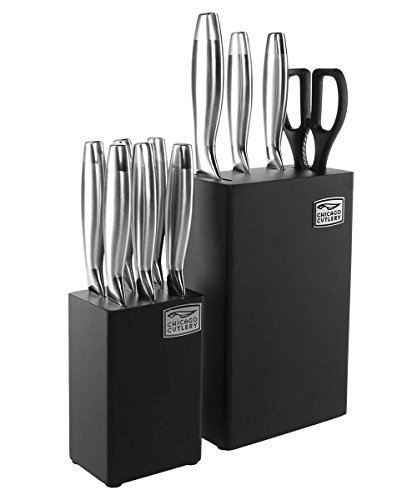 Chicago Cutlery 1118373 12-Piece Uptown Dual Block Set, Stainless Steel