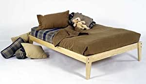 King Size - Solid Wood Platform Bed Frame - Clean, Unfinished, Chemical Free Pine - Made in USA