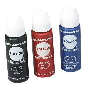 Sanford(R) Roll-On Stamp Pad Inker, Black