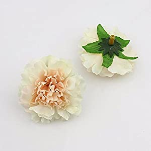 30pcs/lot Approx 5cm Artificial carnation Flower Head Handmade Home Decoration DIY Event Party Supplies Wreaths (champagne) 114