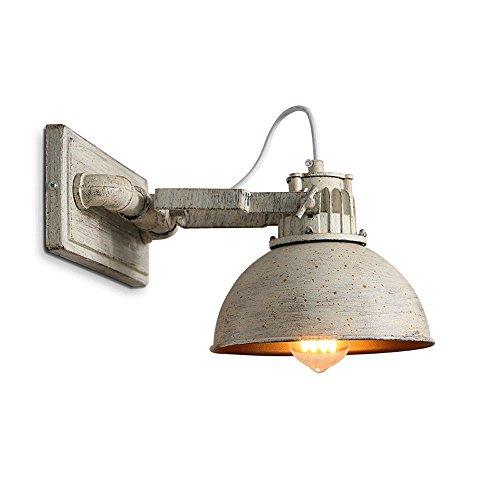 Lamparas de pared de hierro antiguo, creativo Industrial LED Olla Tapa Bar Iluminacion decorativa luz que cuelga la lampara de pared americana Salon Dormitorio Mesa de comedor apliques
