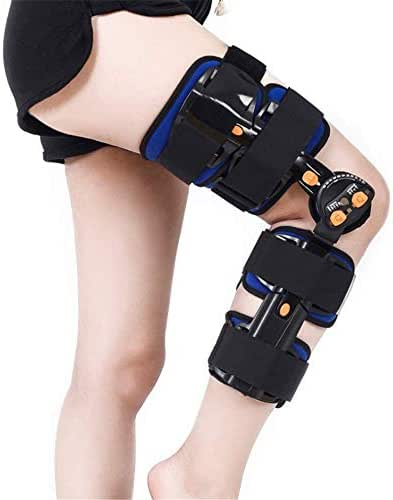 ZXWCYJ Hinged ROM Knee Brace, Adjustable Medical Orthopedic Support Stabilizer After Surgery, for Preventive Protection from Knee Joint Pain/Degeneration, Universal (One Size)