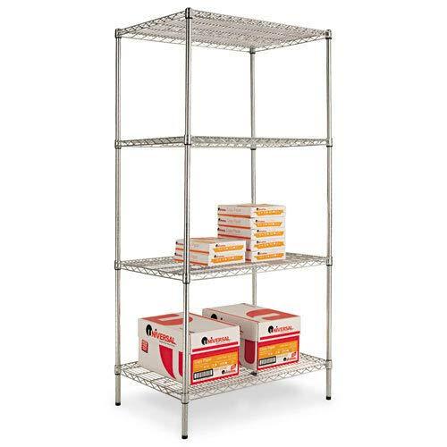 - Industrial Heavy Duty Wire 36w x 24d x 72h Shelving Starter Kit, 4-Shelf