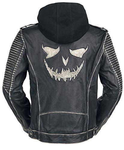 Negro Cazadora Suicida cuero de Negro The Escuadrón Joker aYqxZ