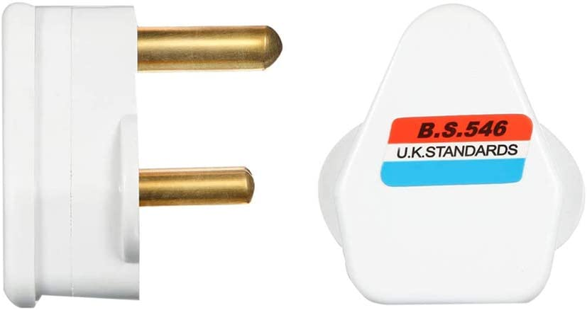 White Moscare 2Pcs 5 Amp Round Pin Plug Lamp,Round 3 Pin Plugs for Stage Lighting Lamp