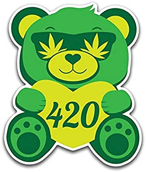 Weed Pipe Vinyl Decal Sticker Car Truck Marijuana Medical Pot Smoke Funny