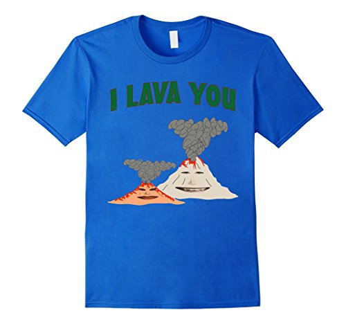 Mens I Lava You Funny Volcano Dating T-Shirt XL Royal Blue