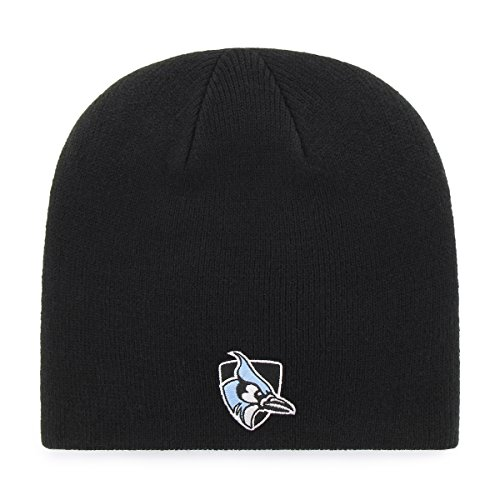 OTS NCAA Johns Hopkins Blue Jays Beanie Knit Cap, Black, One Size (John Apparel Adult Black Tee)