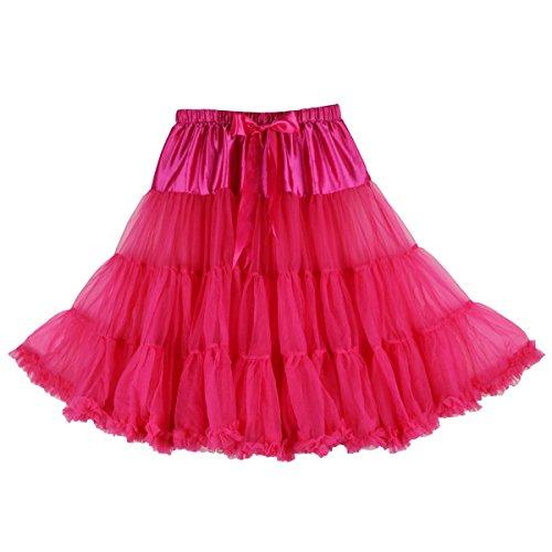 cm 63 pour jupon Dguisement douce Buenos Jupe Fluo mousseline Rose Tulle en Jupe Rose sexy tutu fte Ninos qOwB4w08