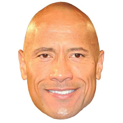 Dwayne  The Rock  Johnson Celebrity Mask  Cardboard Face And Fancy Dress Mask