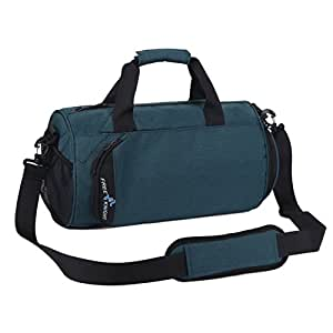 Ayliss Waterproof Sport Gym Bag with Shoe Compartment Travel Duffel Bag for Men Women (Blue)