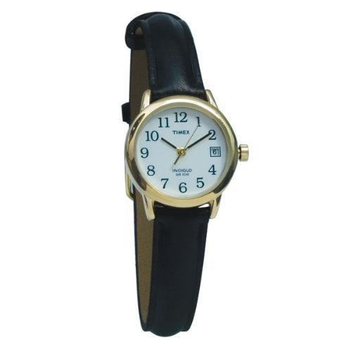 Timex Indiglo Watch Ladies Gold with Leather Band