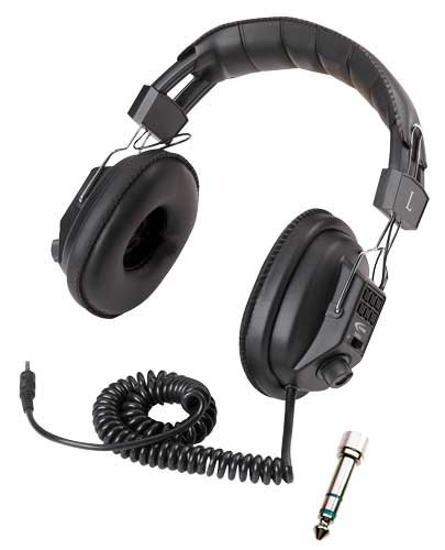 Classroom 10-Pack o Switchable Stereo/Mono Headphones - Mono Headphone Replaceable Coiled Cord