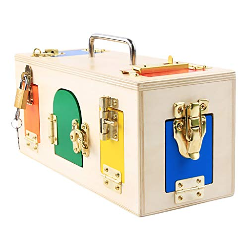 [해외]B Baosity 어린이 유아 컬러풀 잠금 상자 자물쇠 장난감 몬테소리 교육 완구 / B Baosity Kids Kids Colorful Lockbox Toy Montessori Educational Toys